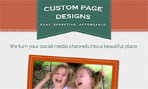 custom fan page designs
