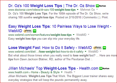 weight loss tips results