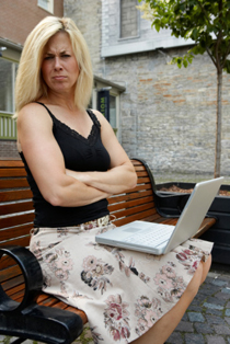Angry Woman on Laptop