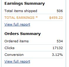 amazon affiliate earnings