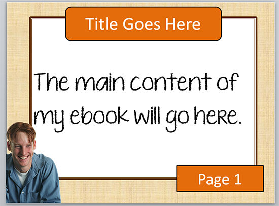 Sample EBOOK design in Powerpoint