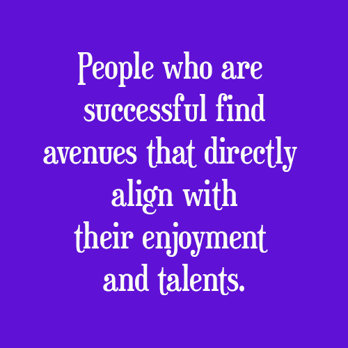 People who are successful...