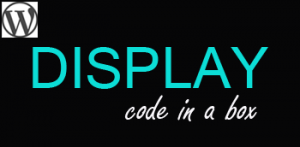 How to Display Code in a Box with WordPress