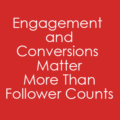 Engagement and Conversions Matter More Than Follower Counts