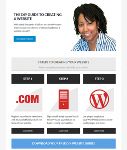 The New 2 Create a Website Homepage